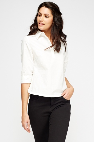 Cropped Cotton Shirt