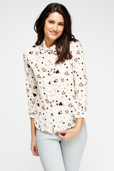 Multi Heart Printed Blouse