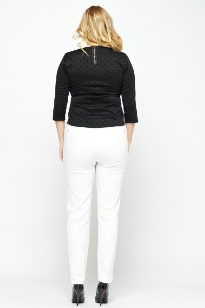 White Jegging Trousers