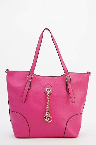 Image of Chained Faux Leather Bag