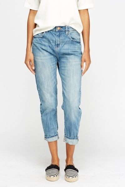 Denim Blue Boyfriend Jeans