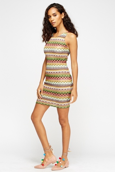 Embroidered Bodycon Dress