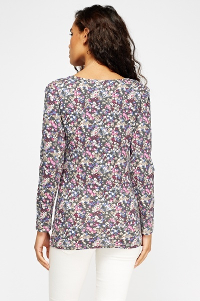 Floral Long Sleeve Top