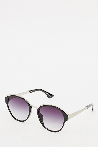 Printed Mirrored Tortoise Sunglasses