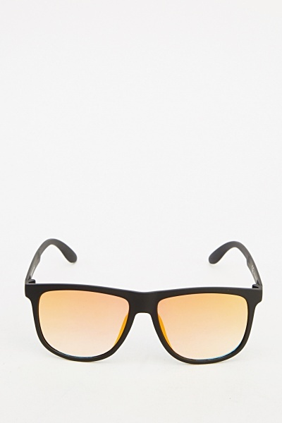 Wayfarer Framed Mirrored Sunglasses