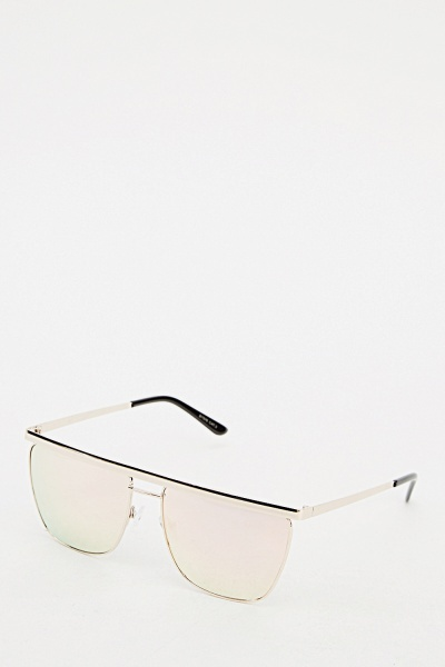 Butterfly Mirrored Sunglasses