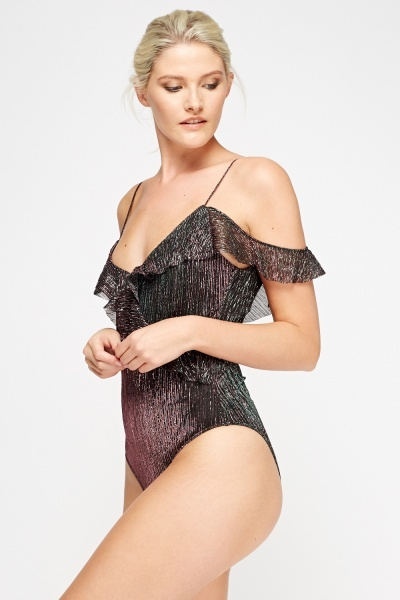 Cold Shoulder Frilled Body Suit