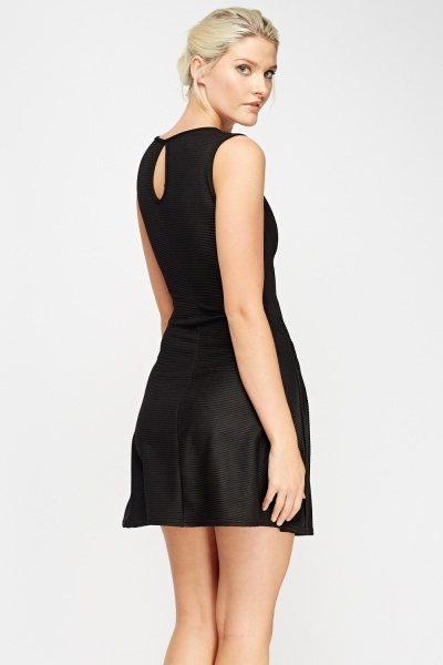 Detailed Back Skater Dress