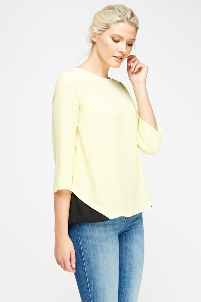 Insert Back Asymmetric Top