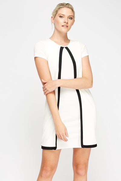 Insert Contrast Wrapped Mini Dress
