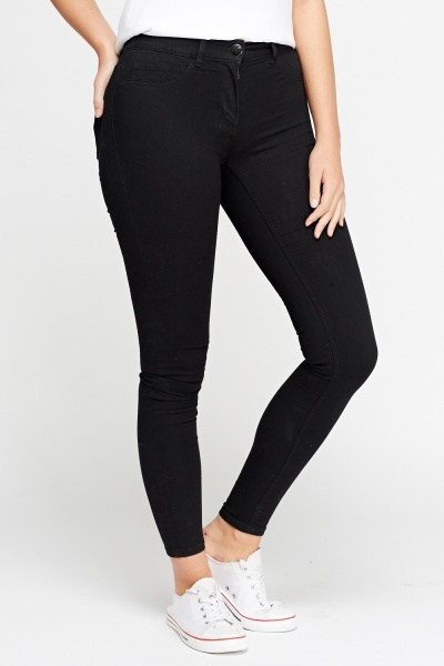 Slim Fit Regular Waist Jeggings