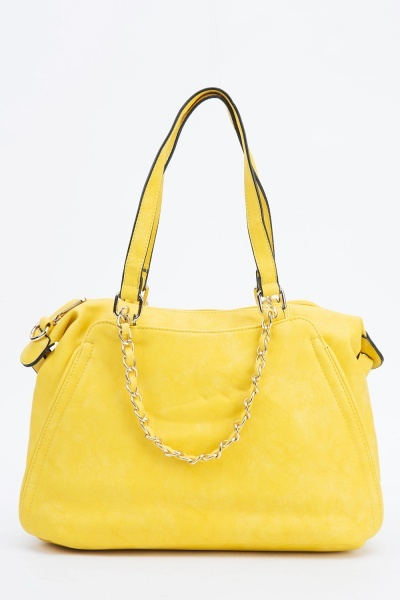Image of Chain Embellished Handbag