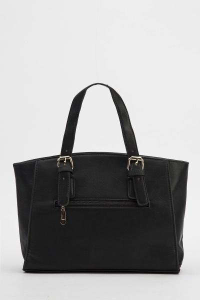 Faux Leather Small Handbag