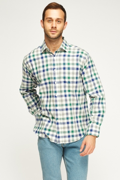 Check Grid Multi Shirt
