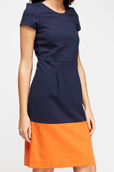 Colour Block Shift Dress
