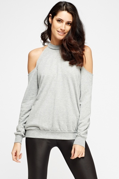 Halter Neck Cold Shoulder Top