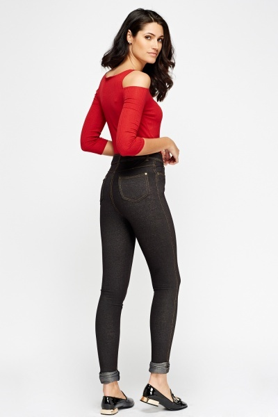 High Waist Casual Jeggings