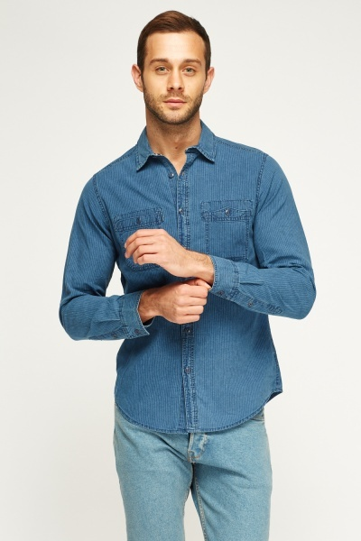 Pocket Front Stripe Shirt