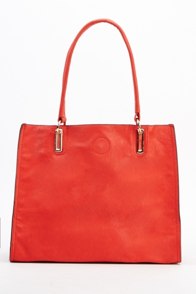 2 In 1 Faux Leather Tote Bag