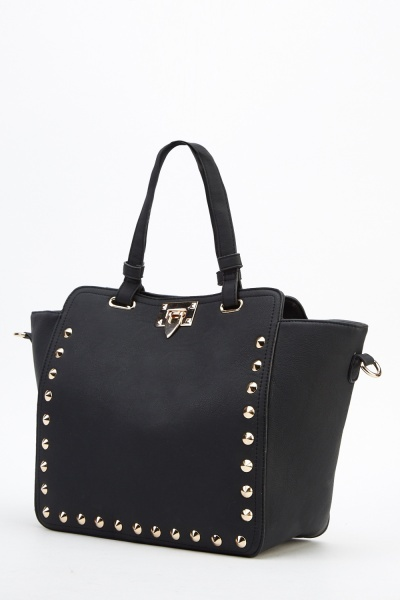Studded Box Handbag