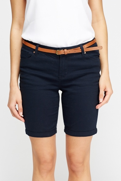 Belted Casual Shorts