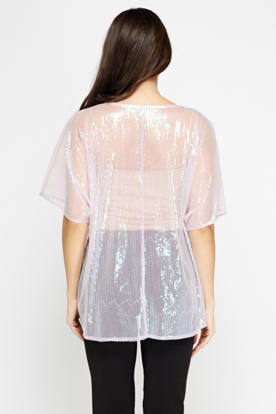 Lilac Sequin Box Top