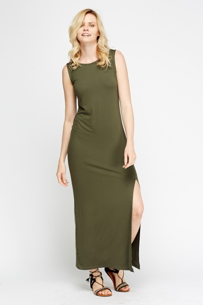 Side Slit Maxi Dress