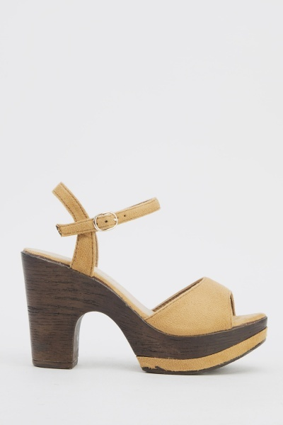 Contrasted Suedette Sandals