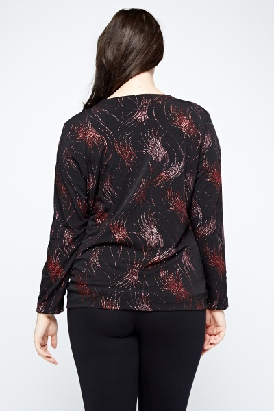 Red Glitter Cardigan Top