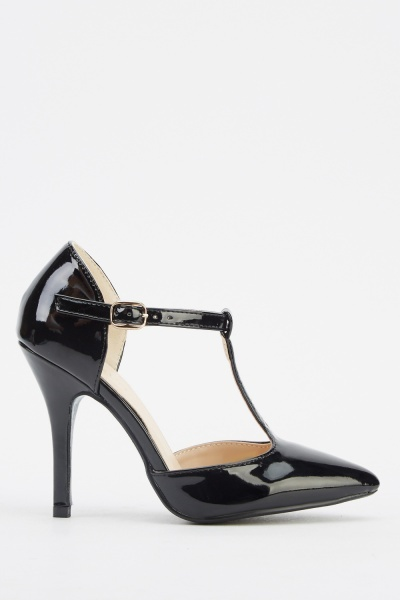 T-Bar PU Court Heels