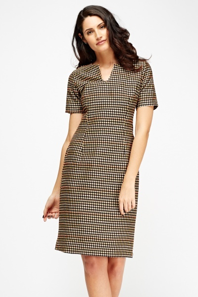 Textured Pencil Formal Dress