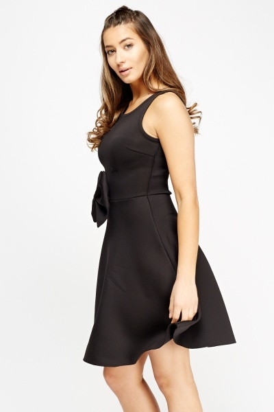 Large Bow Scuba Skater Dress