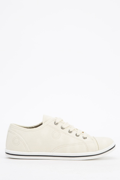 Stitched Low Top Trainers