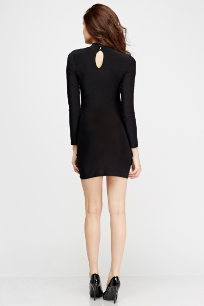 Crossed Front Detail Mini Dress