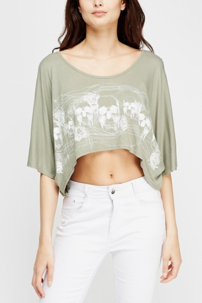 Dip Hem Cropped Top