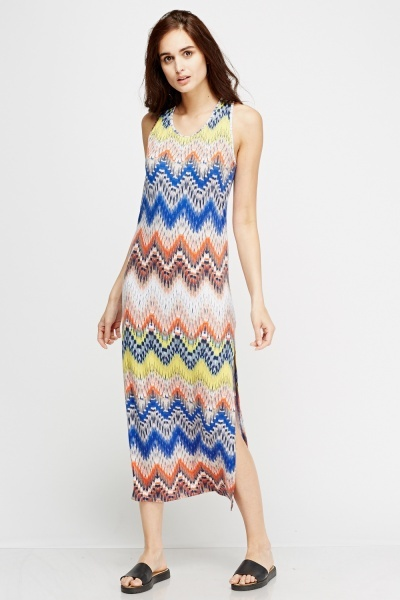 Zig Zag Print Dress