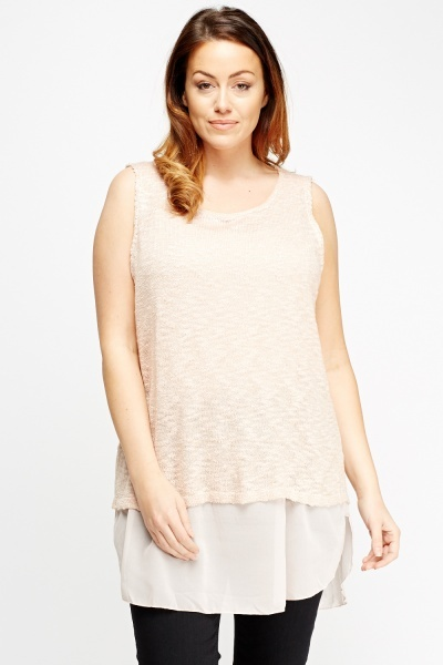 Bobble Knit Metallic Insert Top