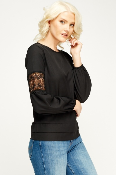 Insert Crochet Sleeve Top