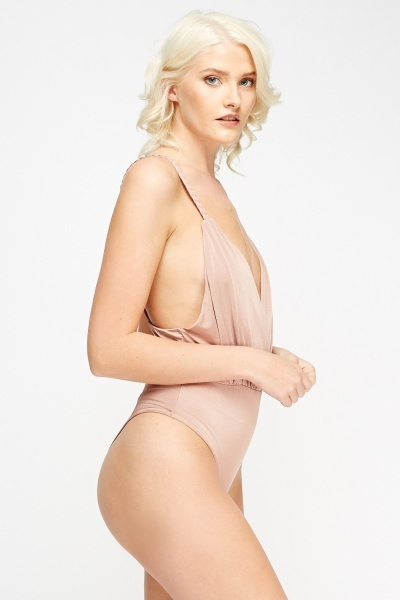 Wrap Front Dusty Pink Bodysuit