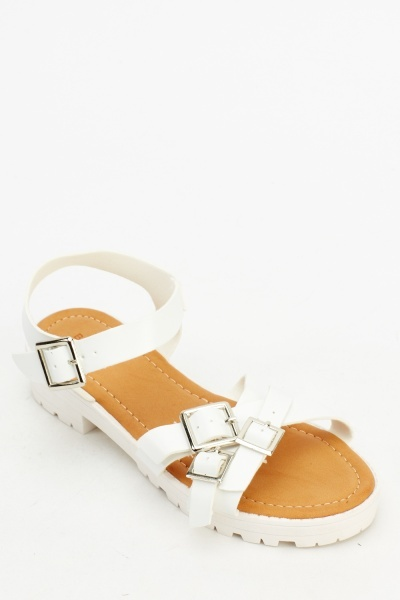 Multi Buckle Strap Sandals