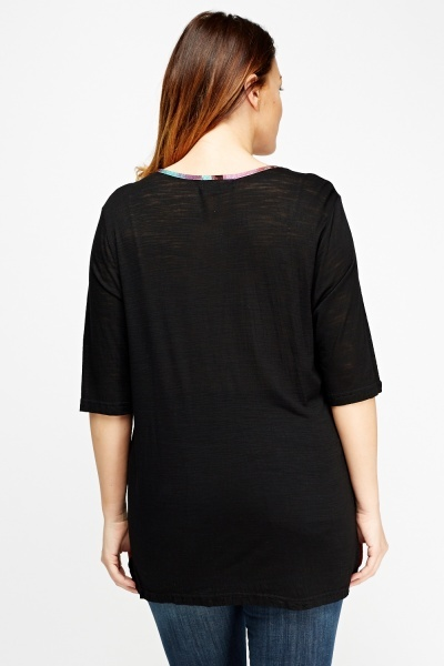Detailed Neck Basic Top