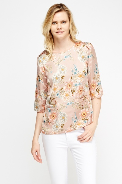 Floral Silky Top