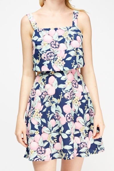 Overlay Floral Dress