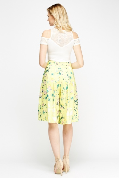 Yellow Floral Culottes