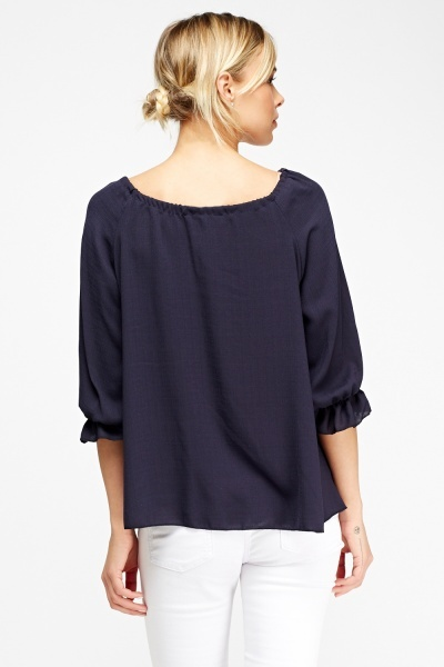 Elasticated Flare Top