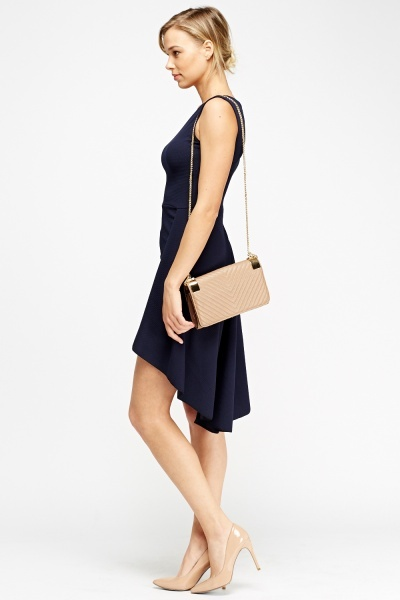 Textured Layered Asymmetric Dress