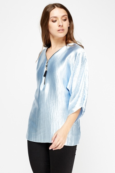 Metallic Detailed Tunic Top
