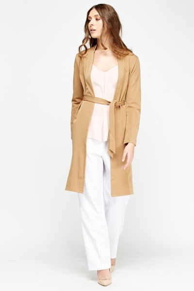 Tie Up Long Line Jacket