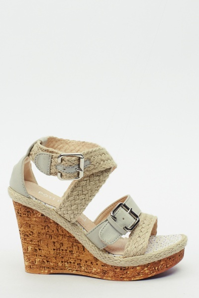 Espadrille Strappy Wedge Sandals
