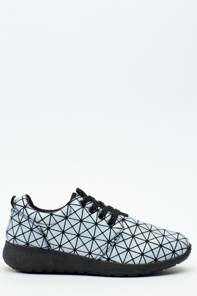 Geo Embossed Trainers